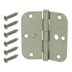 Everbilt 3 1 2 In Satin Nickel 5 8 In Radius Security Door Hinges Value Pack 3 Pack 14874 Security Door Door Hinges Interior Door Hinges