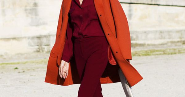 British Vogue Street Chic: Leila Yavari in an Akris jacket, Pucci pants,