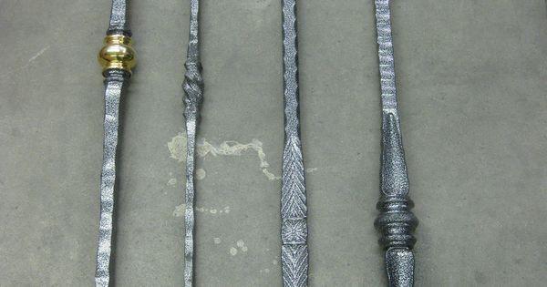 metal stair balusters in pewter vein finish  metal tube