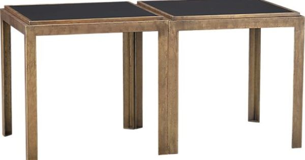 Crate Barrel Set Of 2 Pascal Bunching Tables Crates Barrels And Living Rooms