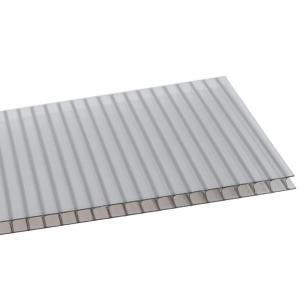 Lexan Thermoclear 48 In X 96 In X 1 4 In Bronze Multiwall Polycarbonate Sheet Pctw4896 6mmbz The Home Depot Polycarbonate Roof Panels Roof Panels Pergola Attached To House