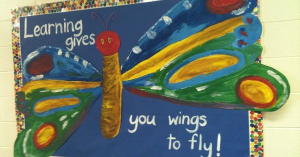 Classroom Board Ideas For Preschool ~ Reading gives you wings to fly spring bb
