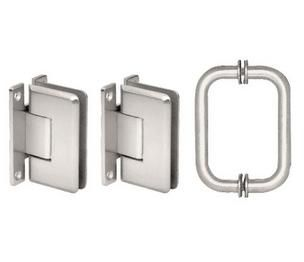 Crl C0ls3ch Polished Chrome Cologne 037 Hinge And Shower Pull Handle Set Polished Chrome Pull Handle Shower Door Hardware