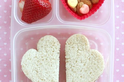 Cute Valentine Day School Lunch Idea! ❤❤❤