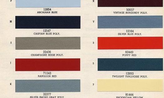 original colors of mustang 65