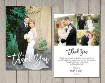 Wedding Thank You Card Printable By Vintage Sweet Thanks Card Wedding Wedding Thank You Photo Thank You Cards