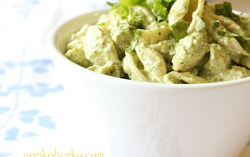 creamed avocado pasta salad- my new favorite salad