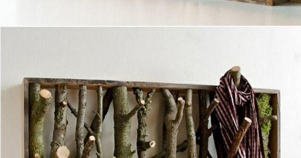 bastelideen kleiderhaken selber bauen naturholz ideen. Black Bedroom Furniture Sets. Home Design Ideas