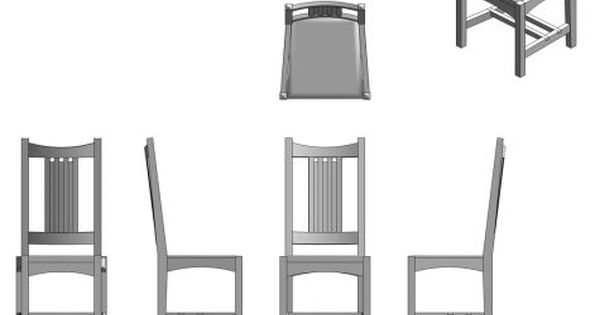 ortographic chair drawing | Orthographic Drawing ...