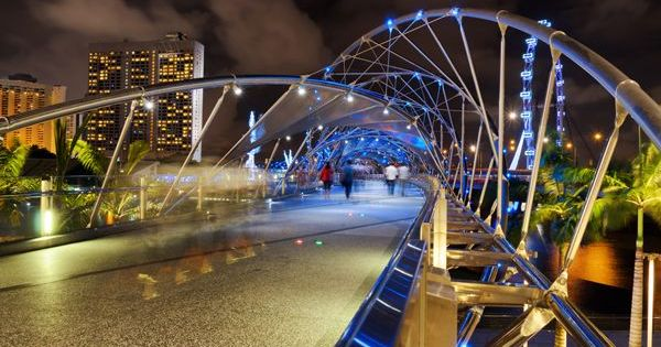 The double helix bridge 2010 singapore this for Design bridge singapore