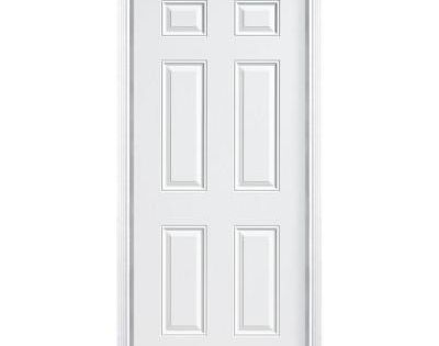 Masonite Utility 6-Panel Primed Steel Entry Door With