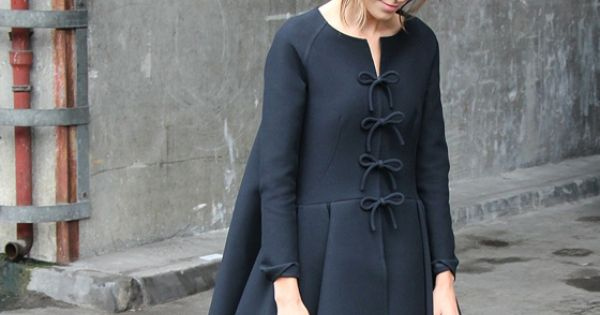 completely obsessed with this dress/coat. black dress coat