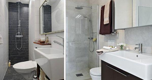 Distribuci n de ba os alargados y estrechos cuarto de for Cuartos de bano pequenos con ducha