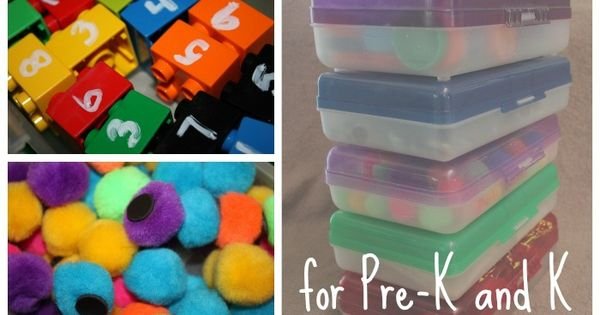 5 DIY Manipulatives for Preschool and Kindergarten - Easy to make manipulative