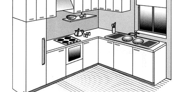 implantation cuisine type id al tout sur les cuisine en l u i parall le lot cuisine. Black Bedroom Furniture Sets. Home Design Ideas