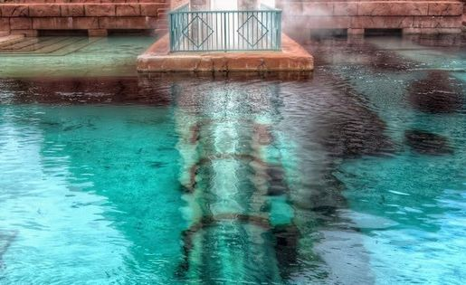 Atlantis, Bahamas. Water slide through a shark tank!