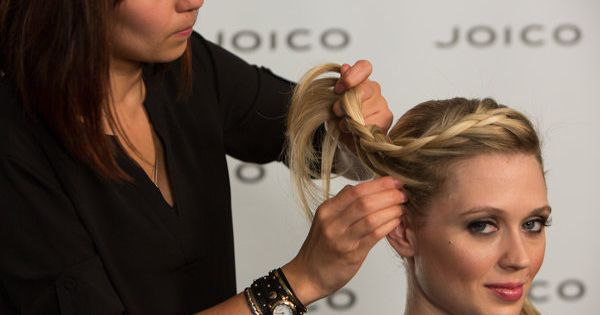 combed hairstyles : Holiday Cocktail Party #hairstyle: Order up this ?undone? braid ...