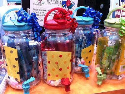 Fun Teacher gift for summer - The container is a drink dispenser.