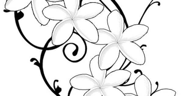 Frangipani tattoo design would want some colour and incorporate the kids names