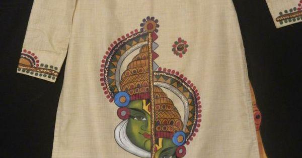 Kadhakali mural pinterest fabric painting mural for Aithihya mural painting fabrics