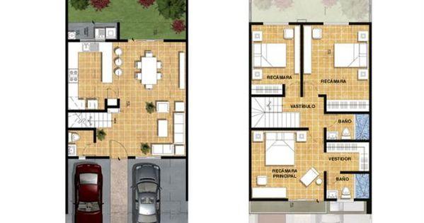 Planos de casas de 90m2 de 2 pisos buscar con google a for Planos google