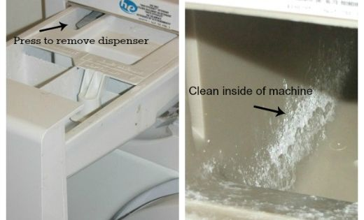 how to clean mold off front load washer gasket