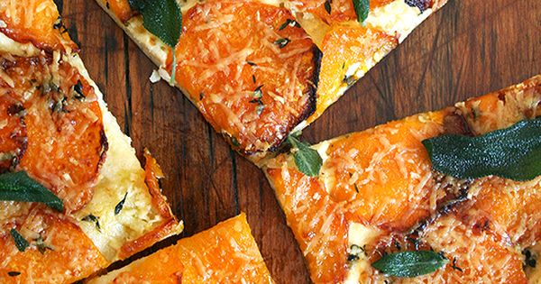 Butternut Squash and Crispy Sage Pizza, Five Minutes a Day Style