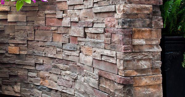Stone Wall Vintage Wine Easy Fit Savannah Ledge Prostone 174 Manufactured Stone Veneer