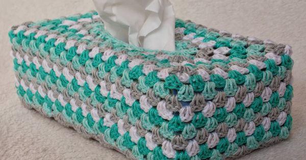 Stitch Of Love Free Pattern Crochet Catherine Wheel Tissue Box Cover : Tissuedoos-Renates haken en zo - Haken Pinterest - Haken