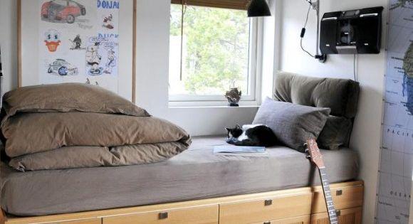 platzierung eines bettes auf einem massangefertigen schubladenm bel so haben sie schrank und. Black Bedroom Furniture Sets. Home Design Ideas