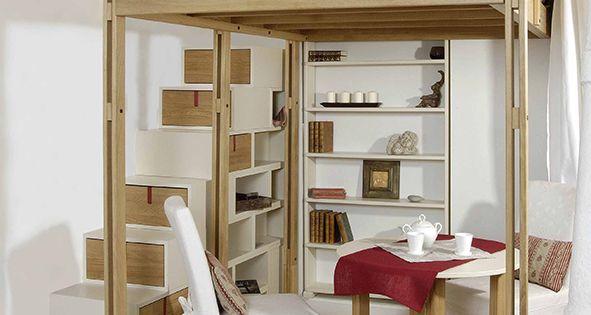 lit mezzanine modulable espace loggia chambre d co pinterest mezzanine et lieux. Black Bedroom Furniture Sets. Home Design Ideas
