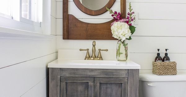 Tutorial For How To Build A Small Bathroom Vanity With