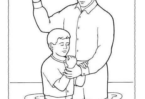 LDS Baptism Coloring Pages view