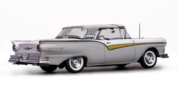 1957 Ford Fairlane 500 Skyliner Wood Smoke Gray Colonial White