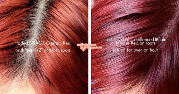 L Oreal Excellence Hicolor Intense Red Hair Pinterest