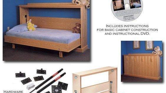 diy horizontal murphy bed plans pdf plans download bedplans clever pinterest. Black Bedroom Furniture Sets. Home Design Ideas