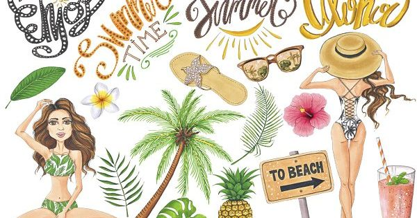 Summer Time Collection by Tanya Kart – hand-painted illustrations and seamless patterns