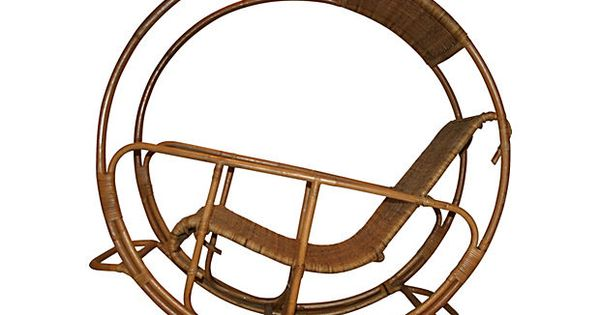 Bamboo Wheel Rocking Chair - One Kings Lane - Vintage & Market