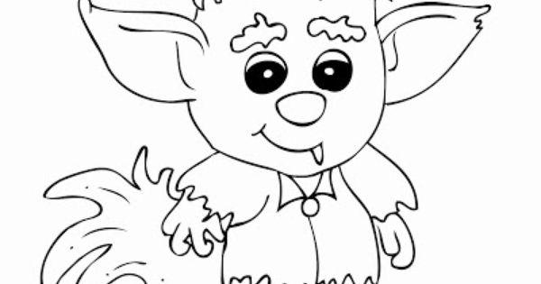 FREE Printable Cute Werewolve Coloring Page / Rhoda Design