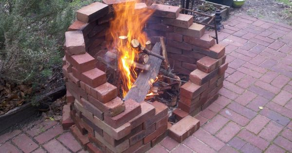 Laying Fire Brick For Fireplace : Made by a diyer with old bricks i want firepit in our
