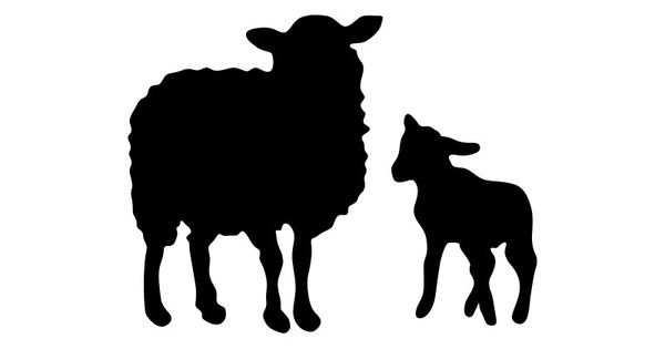 Sheep And Lamb Vector Silhouettes | vector silhouettes ...