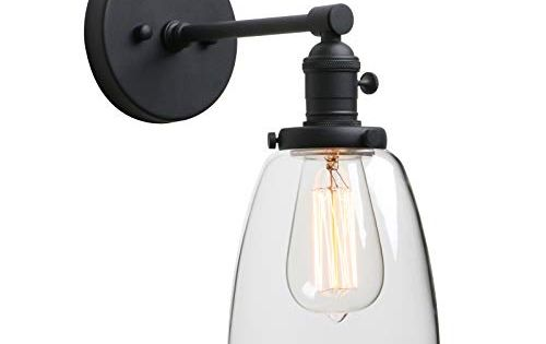 Phansthy Industrial Wall Sconce Light 1 Light Black Sconc Https Www Amazon Com Dp B07gdg5cw9 Re Industrial Wall Sconce Clear Glass Lamps Wall Light Shades