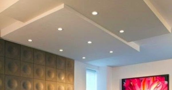 Led false ceiling lights for living room led strip lighting ideas in the interior pinterest - Lights used in false ceiling ...