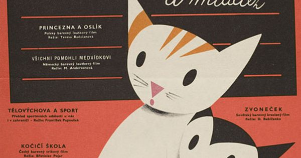 Poster with unusual cat illustration