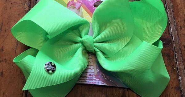 Jojo Siwa Signature Big Large Hair Bow Neon Green Color