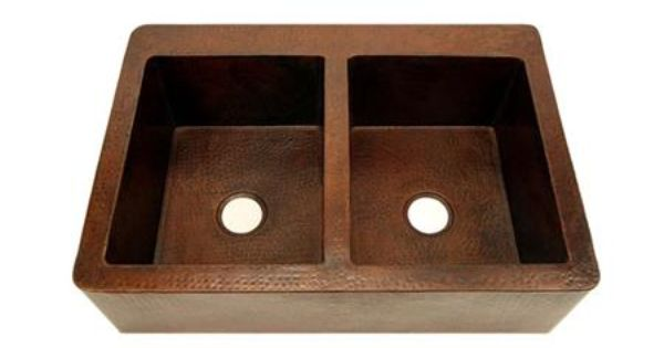 Large Copper Farmhouse Double Well Sink-Narrow Depth ,Price: $1,050.00 ...