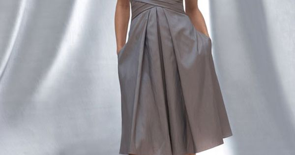 Sweetheart taffeta bridesmaid dress with dropped waist: SAW U PIND A CORAL