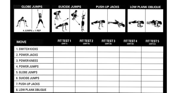 insanity fitness & measurement tracker | Over 40 & Using