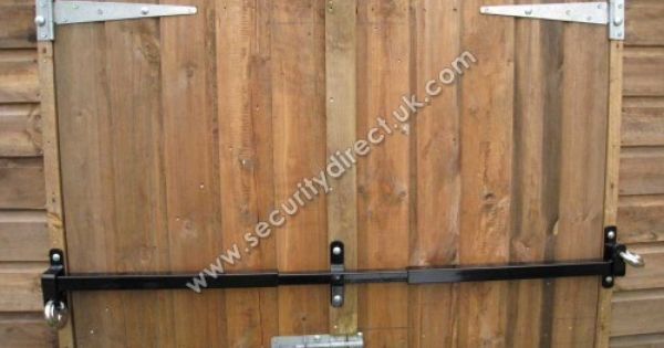 shed double door security | Shed Security Bar | garage et ...