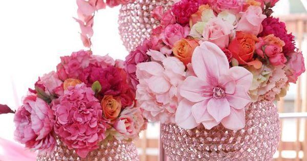 Sparkling pink wedding. pinkwedding www.hgtv.com/...